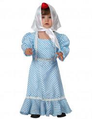 Déguisement madrilène bleue bébé
