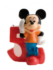Bougie chiffre 5 Mickey™ 6,5 cm