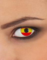 Lentille fantaisie drapeau Espagne adulte