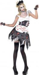 Déguisement zombie soubrette sexy femme Halloween