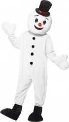 Déguisement bonhomme de neige mascotte adulte Noël