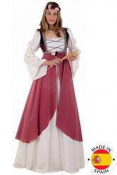 Déguisement Médiéval rose femme