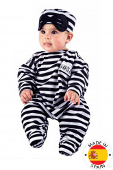 Déguisement prisonnier à rayures bébé