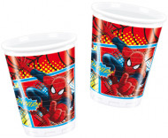 8 Gobelets en plastique Ultimate Spiderman™ 200ml