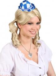 Mini chapeau bleu et blanc
