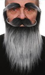 Barbe, moustache et sourcils gris adulte