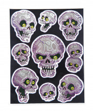 Décorations fenêtres crânes Halloween