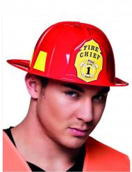 Casque pompier rouge adulte