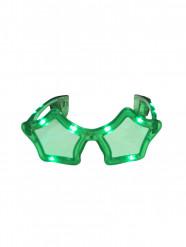 Lunettes étoiles verte LED