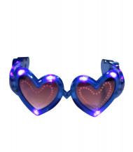 Lunettes coeur bleue LED