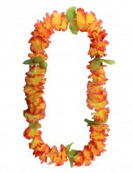 Collier fleurs hawaïennes orange