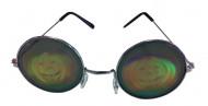 Lunettes métal rondes avec hologramme citrouille