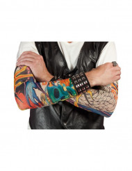 Manches faux tatouages colorés