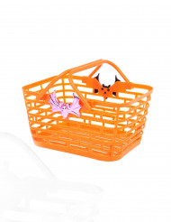 Panier orange pour bonbons Halloween