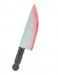 Couteau ensanglanté en plastique Halloween