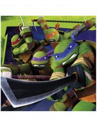 20 Serviettes en papier Tortues Ninja™ 33 x 33 cm