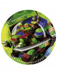 8 Assiettes en carton Les Tortues Ninja™ 23 cm