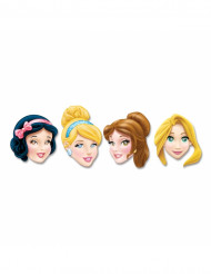 Lot de 4 Masques encarton Princesses Disney™