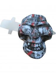 Décoration tête de mort avec couteau Halloween