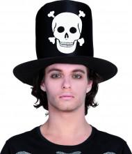 Chapeau haut de forme tête de mort Halloween