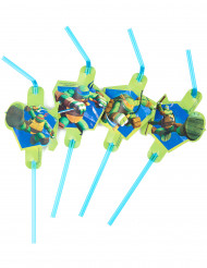 Lot de 8 Pailles vertes les Tortues Ninja™