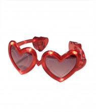 Lunettes coeur rouge LED