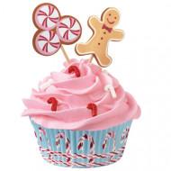 24 Moules à cupcakes avec décorations Wilton™ pain d