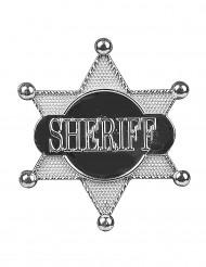 Etoile de sheriff argentée 7.5 cm