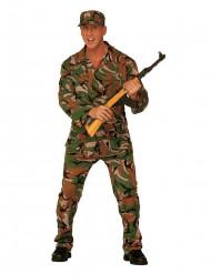 Déguisement militaire camouflage homme