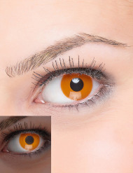 Lentilles fantaisie UV orange adulte