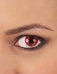 Lentilles fantaisie oeil reptile rouge adulte