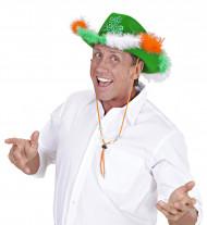 Chapeau cowboy trèfle adulte Saint Patrick