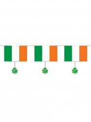 Guirlande drapeau irlandais et trèfles St Patrick 3,7 m