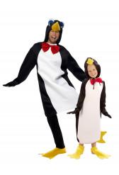Déguisement de couple pingouins père et fils