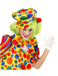 Beret à pois clown adulte