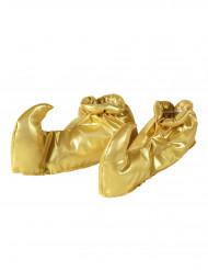 Sur-chaussures dorées adulte