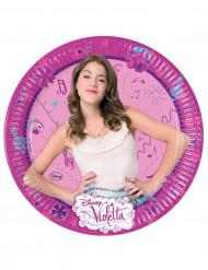 8 Assiettes 23 cm Violetta™