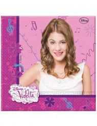 20 Serviettes en papier Violetta™ 33 x 33 cm