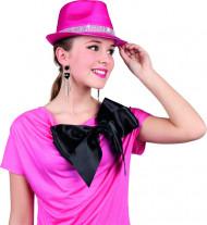 Chapeau rose perles brillantes adulte