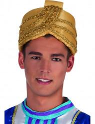 Chapeau sultan doré adulte