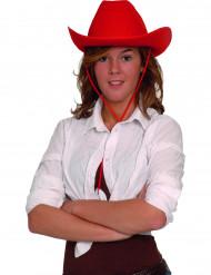 Chapeau cowboy rouge adulte