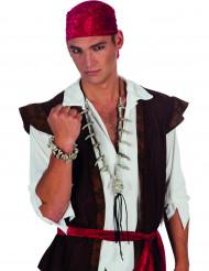 Collier tête de mort pirate