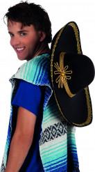 Sombrero noir et doré adulte