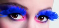 Faux cils plumes bleu foncé adulte