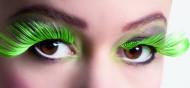 Faux cils XL verts et noirs adulte