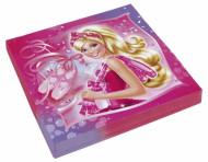 20 Serviettes en papier Barbie™ 33 x 33 cm