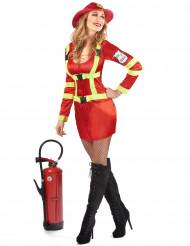 Déguisement pompier avec écusson femme