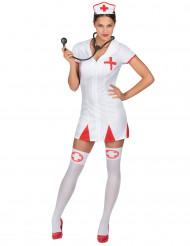 Déguisement infirmière robe courte femme