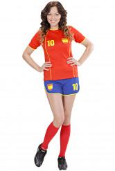 Déguisement footballeur Espagne femme
