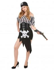 Déguisement pirate imprimé tête de mort femme